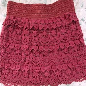 XS American Rag lace skirt
